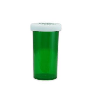 Green Pharmacy Vials, Child-Resistant, Green, 40 dram (148mL), case/180