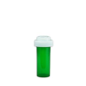 Green Pharmacy Vials, Child Resistant, Reversible, 8 dram, case/410