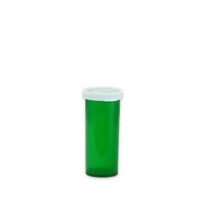 Green Pharmacy Vials, Easy Snap-Caps, Green, 8 dram (30mL), case/500