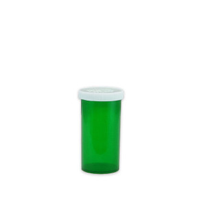 Green Pharmacy Vials, Easy Snap-Caps, Green, 13 dram (48mL), case/360