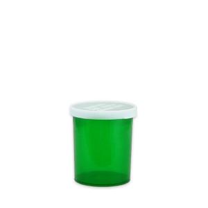 Green Pharmacy Vials, Easy Snap-Caps, Green, 20 dram (75mL), case/300