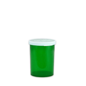 Green Pharmacy Vials, Easy Snap-Caps, Green, 30 dram (111mL), case/280