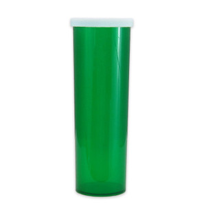 Green Pharmacy Vials, Easy Snap-Caps, Green, 60 dram (222mL), case/140