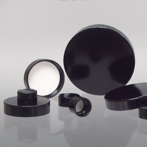 28-400 Black Phenolic Cap with Pulp/Vinyl Liner, Each