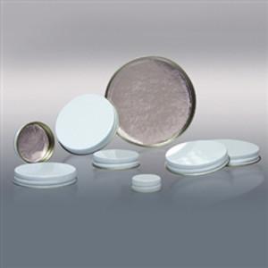 28-400 White Metal Cap, Aluminum Foil Lined, Each