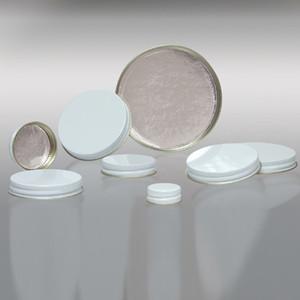 63-400 White Metal Cap, Aluminum Foil Lined, Each