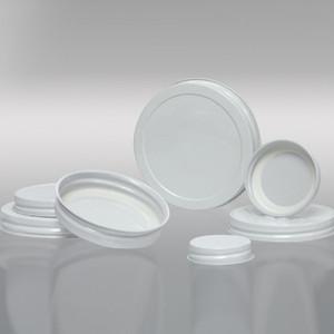 63-400 White Metal Cap, Plastisol Lined, Each