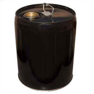 5 gallon steel drum, Tight head, Black Pail, Cap