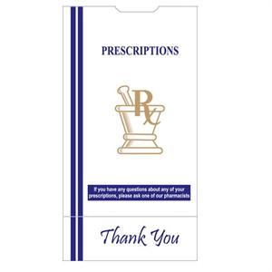 "Pharmacy Bags, 6""x3.6""x11"" for Prescription Medication, case/1000"