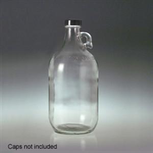 Glass Jugs, 2 Liter (64 oz) Clear, 38-400 neck finish, No Caps, case/6