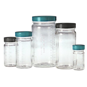 Graduated Medium Round Glass Bottle, 2oz, No Caps