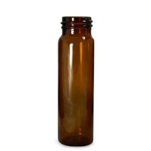 Amber Glass Sample Vials, 15mL, 18-400 neck finish, No Caps, case/144