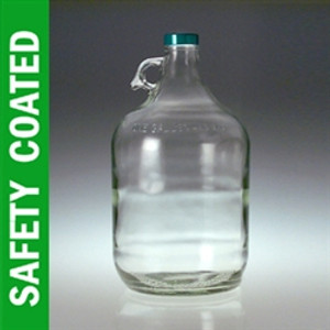 Glass Jugs, 4 Liter (3840mL/ 128 oz) Safety Coated, No Caps, case/4