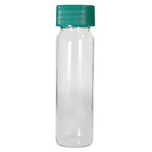 Clear Borosilicate Glass Vials, 22mL, 24-400 Green PTFE Lined Caps, case/72
