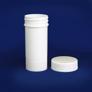White PP Jar with Unlined Caps, 1 oz, case/96
