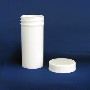 White PP Jar with Unlined Caps, 2 oz (60mL), case/96