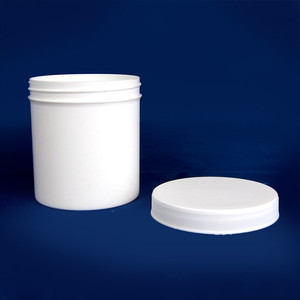 White PP Jar with Unlined Caps, 4 oz, case/60