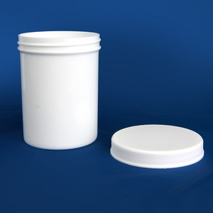 White PP Jar with Unlined Caps, 8 oz, case/60