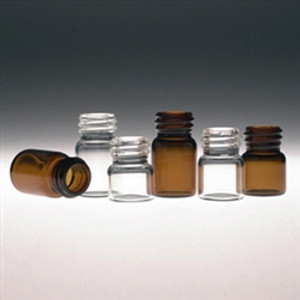 Amber Glass Vials, 1.2mL with Green Thermoset F217 & PTFE Lined Cap, case/144
