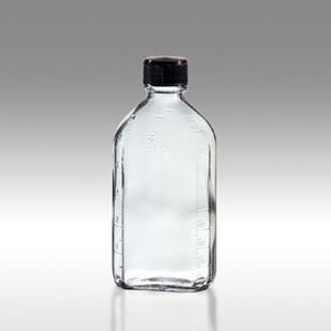 Oval Glass Pharmacy Bottles, Vinyl Lined Caps, 6 oz, case/48