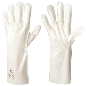 Ansell Barrier Gloves, Chemical Resistant Flat-Film, 12 Pairs