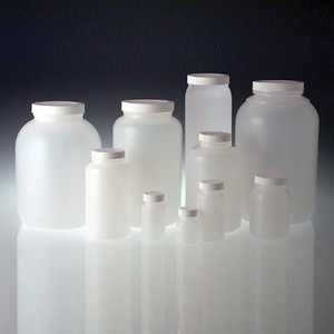 HDPE, Wide Mouth Bottles, 89-400 White Foam Lined Caps, 4L, case/4