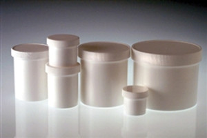 8 oz (250ml) White PP Jar with 70-400 White PP Unlined Caps, case/36