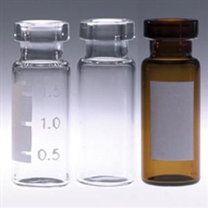 Chromatography Vials, 2mL Clear, Crimp Top, No Caps, case/1000