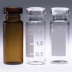 Chromatography Vials, 2mL Clear, Big Mouth Crimp Top, No Caps, case/1000