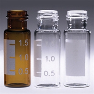 Chromatography Vials, 2mL, Clear Wide Mouth Screw Thread, No Caps, case/1000