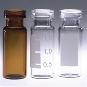 Chromatography Vials, 2mL, Clear Snap Seal, No Caps, case/1000