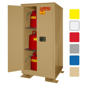 Weatherproof outdoor cabinet, 60 gal Self-Close, Self-Closing