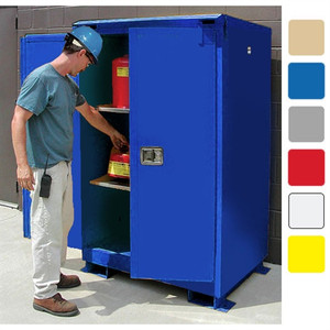 Weatherproof outdoor cabinet, 90 gal Self-Close, Self-Closing