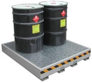 Securall® DSS04-Drum Containment Pallet, 4-Drum