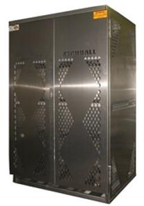 Vertical Gas Cylinder Storage Cabinet, 12 LP, Aluminum