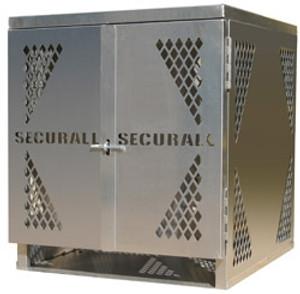 Cylinder Storage Cabinet, 4 LP, Aluminum