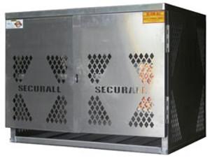 Vertical Cylinder Storage Cabinet, 6 LP, Aluminum
