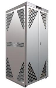 Vertical Cylinder Storage Cabinet, 8 LP, Aluminum
