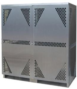 Vertical Cylinder Storage Cabinet, 18 LP, Aluminum
