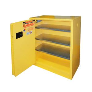 Paint Storage Cabinet 40 gal Self-Close, Self-Closing Sliding Door