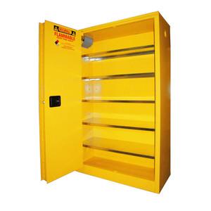 Paint Storage Cabinet 60 gal Self-Close, Self-Closing Sliding Door