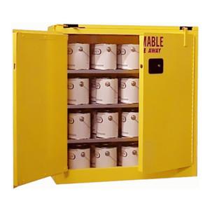 Paint Storage Cabinet 40 gal Self-Close, Self-Closing Safe-T-Door
