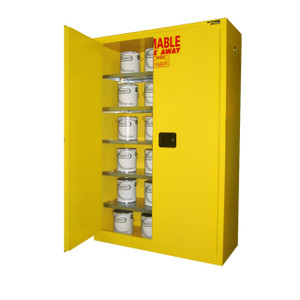 Paint Storage Cabinet 60 gal Self-Close, Self-Closing Safe-T-Door