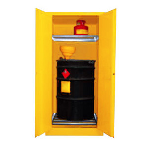 Securall® Vertical Drum Combo Cabinet (1 Drum, 2 Safety Can)