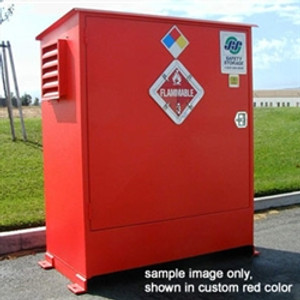 Hazmat Storage Building, 2-hour Fire Resistant 2-Drum Outdoor Locker