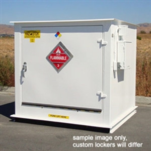 Hazmat Storage Building, 2-hour Fire Resistant 4-Drum Outdoor Locker