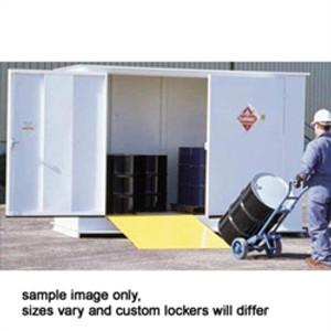 Hazmat Storage Building, 2-hour Fire Resistant 10-drum Outdoor Locker