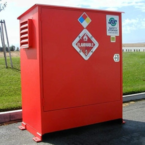 Hazmat Storage Building, Non-combustible LK02, 2-Drum Outdoor Locker