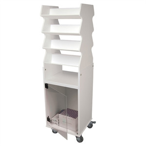 "Rolling Tall Suture Cart with Bulk Storage Cabinet, PVC, 3"" Casters, 19"" x 57"" x 17"""