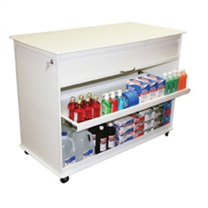 "Cayman Lab Island 4 Foot Lab Cart by TrippNT, 47.9"" x 34.5"" x 23.5"""